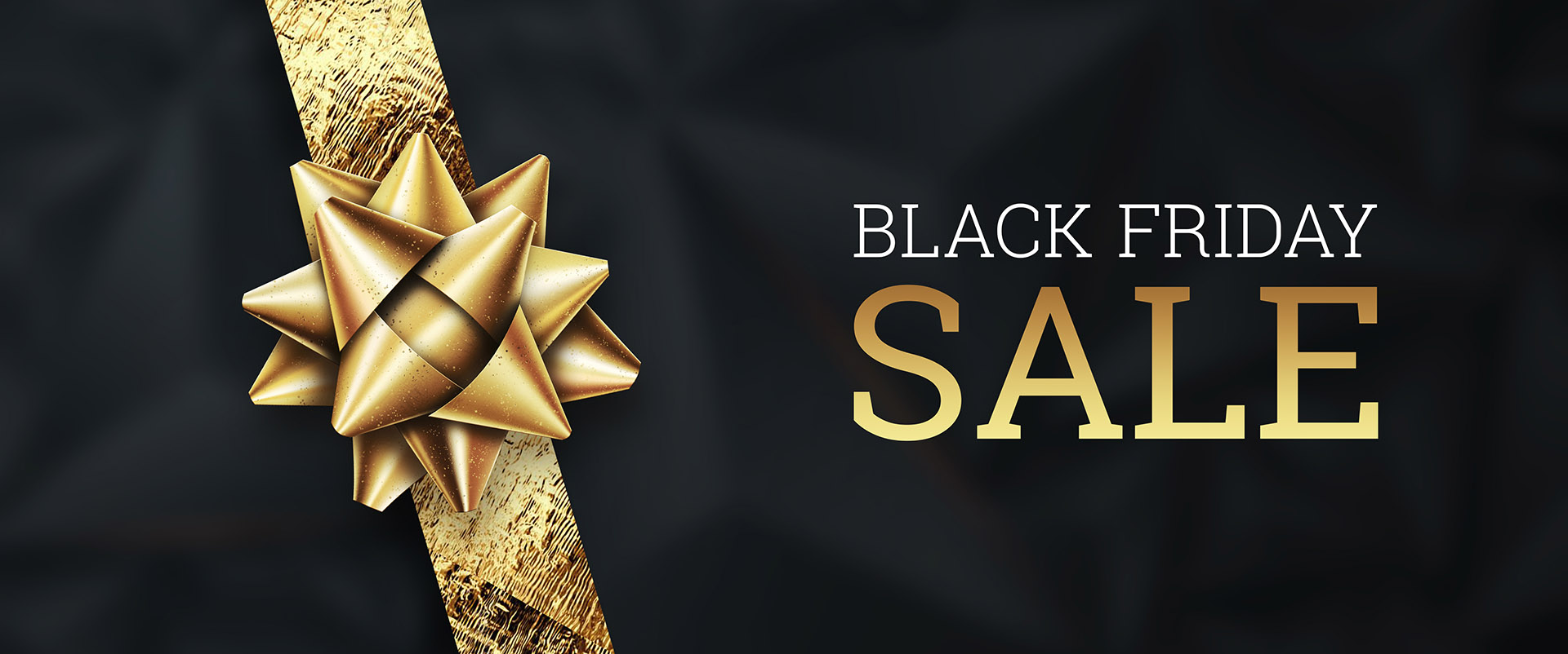 Sale, promo banners for black friday, inscription Black Friday on a dark background, hot sale, discounts.. Gold letters. Banner, card, copy space. Mockup, layout. Creative background